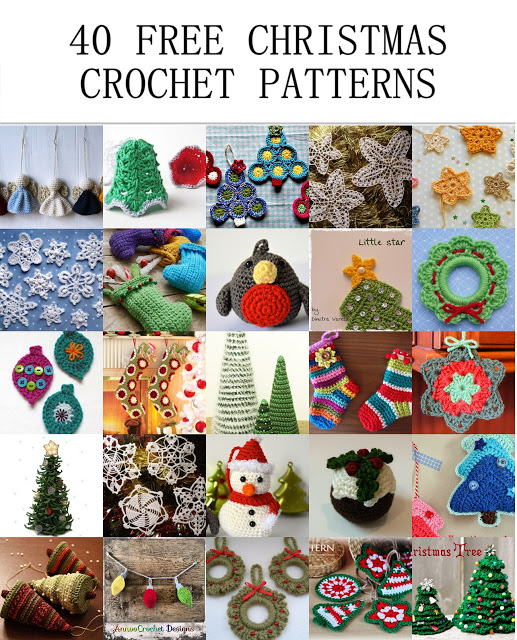 Free Quick Christmas Crochet Patterns : 40 Free Christmas Crochet Patterns ? Crochet Arcade